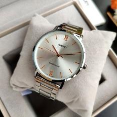 Đồng hồ nam Casio MTP-VT01D-7BUDF Dây kim loại mặt trắng
