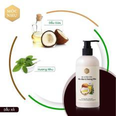 ✅MỘC NHU✅ Dầu xả dầu dừa & hương nhu – Giúp tóc bồng bềnh và suôn mượt