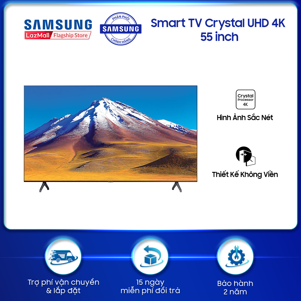 Smart TV Samsung Crystal UHD 4K 55 inch TU6900 2020 – TV
