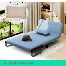 [HÀNG CAO CẤP LOẠI 1] Ghế sofa giường 100cm – Ghế sofa giường đa năng – Sofa giường 2 cách dùng – Sofa giường GHE100CM