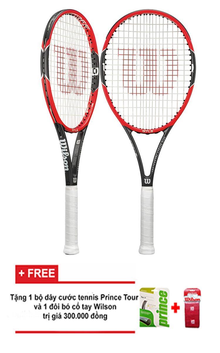 Vợt Tennis Wilson Pro Staff 97 LS + Tặng 1 cước tennis và 1 đôi bó cổ tay