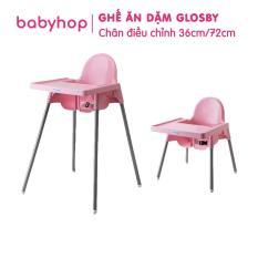 Ghế Ăn Dặm Glosby Babyhop 2 nấc Chân Điều Chỉnh,ăn dặm kiểu nhật và BLW, cho bé từ 6 tháng, được làm từ nhựa nguyên sinh an toàn cho sức khỏe của bé – Ghế ăn dặm