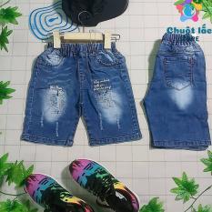 Quần jean bé trai, quần bò bé trai, quần lửng bé trai, quần jean kiểu rách bé trai 4 tuổi đến 9 tuổi (màu xanh )