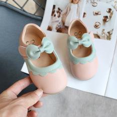 Giày Búp Bê Bé Gái Nơ Hồng Dễ Thương Màu Hồng Size 21-30 Mã BIN04