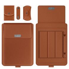 Túi đựng nhiều tính năng chất liệu PU cho laptop, MacBook – Oz137