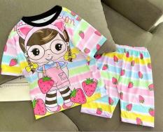 [HCM]Bộ đồ bé gái chất liệu thun thái in hình 3D vải dày mịn thông thoáng được các bé gái yêu thích HD1 [8-40Kg]