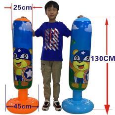 Bao trụ đấm bốc tự cân bằng cho bé Cao 1.3m, Cột boxing hơi cho bé giá rẻ