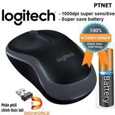 Chuột vi tính không dây cao cấp Logitech B175 Wireless 10m (Đen, xám) – Phân phối bởi Digiworld