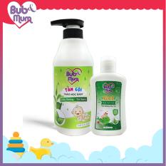 Combo Sữa Tắm gội Thảo mộc chiết xuất Trầu không – Trà Xanh 500ml và Nước rửa tay khô cho bé 90ml BuB&MuM
