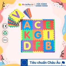Thảm xốp cho bé – chữ cái + viền ngoài (26 miếng, tổng kích thước 26 miếng 1.2mx1.8m) Smile Puzzle – KHÔNG MÙI CHUẨN CHÂU ÂU