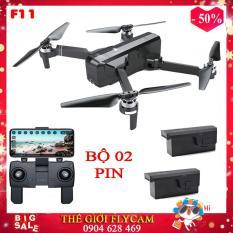 [Bộ 02 pin] Flycam cao cấp, Máy bay Flycam SJRC F11 Camera 1080p. Bay 25 phút. Khoảng cách bay 1200m FPV 500m -Động cơ không chổi than. ( Bugs 5w, s70w, jjrc x5)