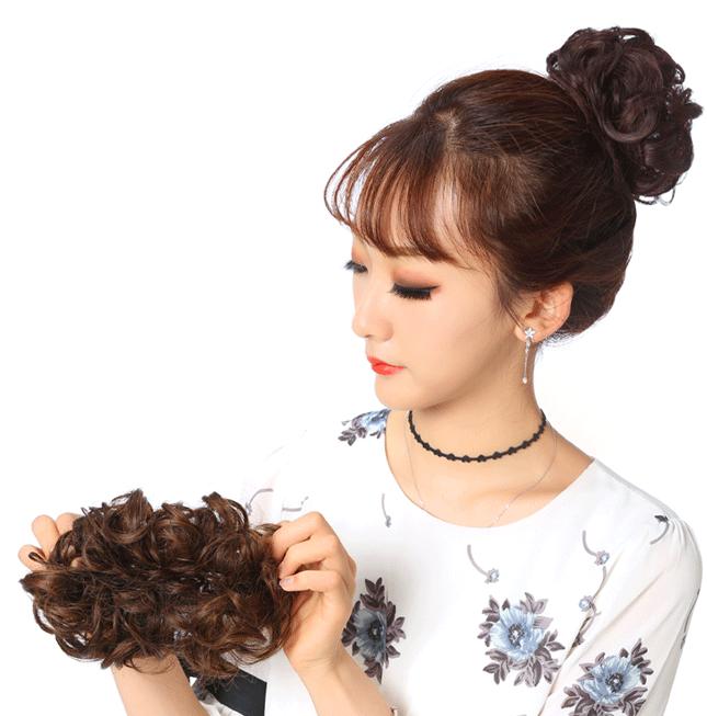 Búi tóc giả – Búi rối trẻ trung 4 màu Hot trend – Búi tóc Hàn Quốc