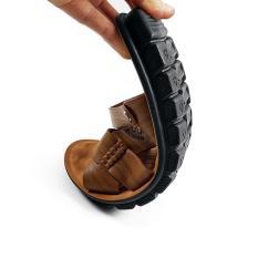 Giày Sandal Nam Da Bò Thật Mềm Mại Siêu Đẹp Ensado DE81999AN (Vàng)