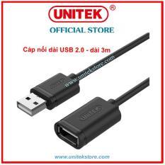 [UNITEK STORE] CÁP USB NỐI DÀI USB 2.0 – DÀI 3M UNITEK (Y-C 417GBK)