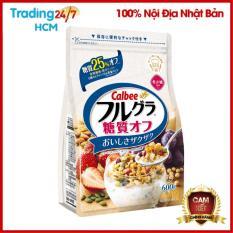 [ DATE T6/2021] Ngũ cốc ít béo – Ngũ cốc trái cây Calbee trắng 600g Nhật Bản