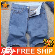 Quần short jean nam xanh nhạt vải dày đẹp SG391 SaoSaiGon quần short nam quần shorts