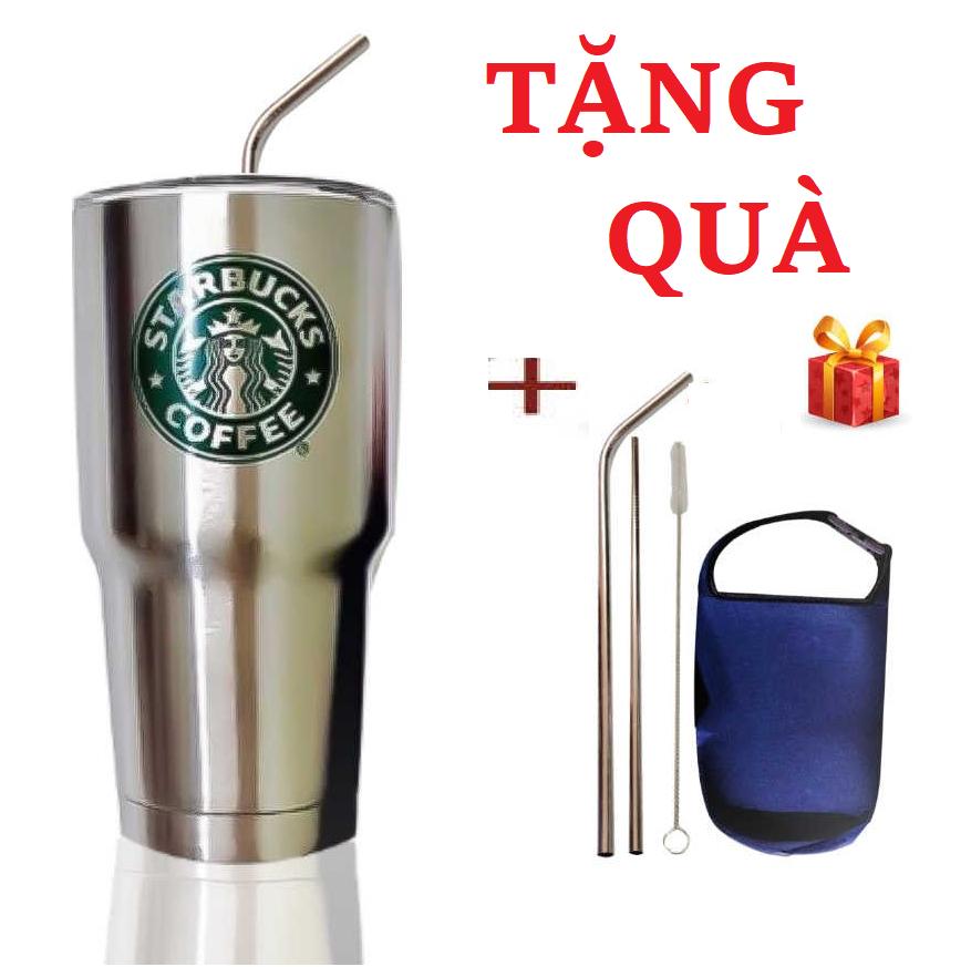 Ly Giữ Nhiệt ThaiLand 900ml Bằng Inox – Tặng Kèm Túi Đựng và Bộ Óng Hút Inox Cao Cấp (Giao Mẫu Ngẫu Nhiên)