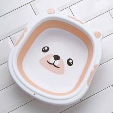 Chậu Rửa Mặt Gấp Gọn Hình Cún Cho Bé Yêu – Tặng 1 món quà cho bé