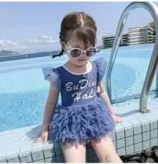 Đồ bơi liền thân bikini công chúa bikini thiên nga đi biển cực xinh cho bé gái hàng Quảng Châu cao cấp