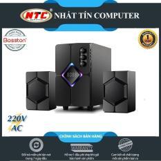 Loa vi tính 2.1 kiêm Bluetooth USB thẻ nhớ Bosston T1800-BT 40W led RGB 7 màu, dùng nguồn 220V (Đen) – Hãng phân phối chính thức