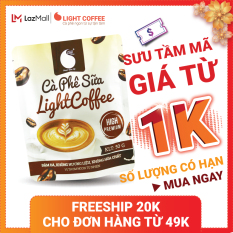[SƯU TẦM MÃ] Cà phê sữa thơm ngon và tiện lợi đặc biệt không pha trộn hương liệu Light Coffee gói 50g