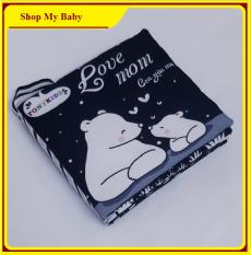 Sách vải song ngữ | Sách vải đen trắng kích thích thị giác cho trẻ sơ sinh
