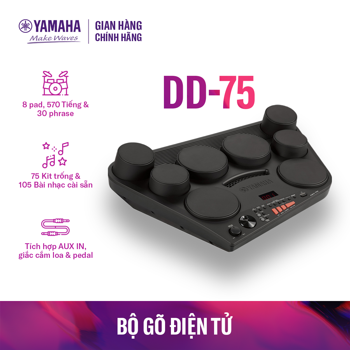 Trống điện tử Yamaha DD-75