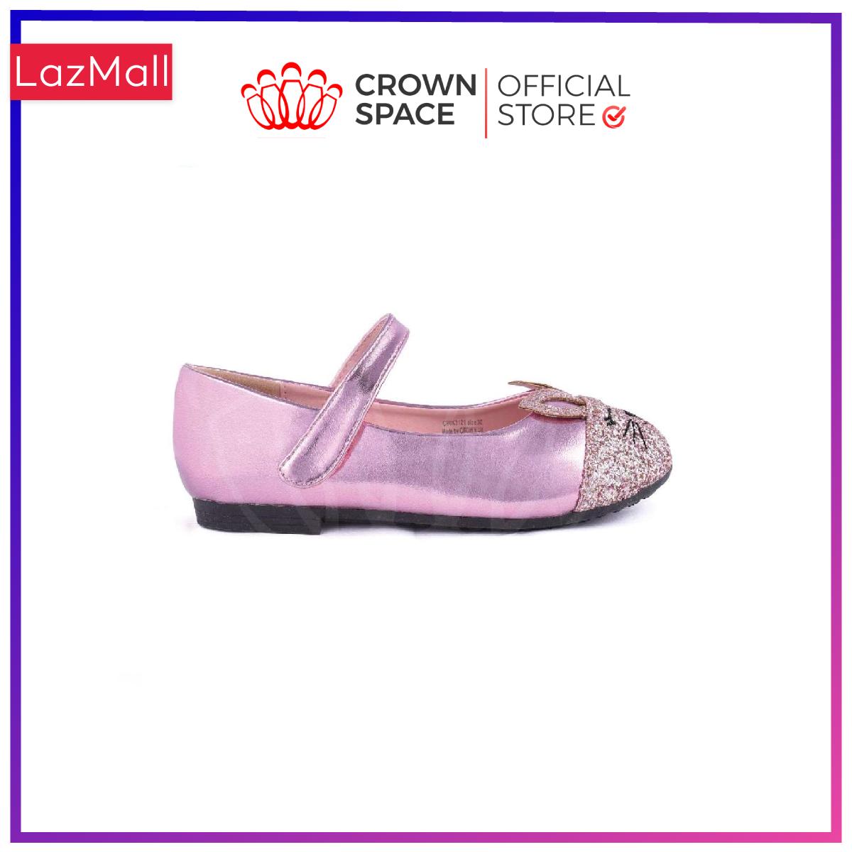 Giày Búp Bê Bé Gái Đi Học Đi Chơi Crown Space UK Ballerina Trẻ Em Cao Cấp CRUK3121 Nhẹ Êm Thoáng Size 25-30/2-10 Tuổi