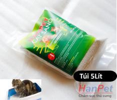 Miễn phí HCM >129k – Hanpet Cat Sand 5Lít CÁT VỆ SINH CHO MÈO Xuất xứ hàn quốc (bao bì mới) cát vệ sinh mèo / cát mèo / cát cho mèo / for cats-HP10387TC
