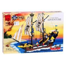 Hộp lego xếp hình Cướp biển Pirates – Tàu chiến Adventure 307