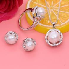 Bộ Trang Sức Bạc Nữ Trang Sức Ngọc Trai Thiên Nhiên Cỡ 6-7 Ly cao cấpT4 Bảo Ngọc Jewelry