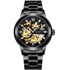 Đồng hồ thời trang cơ tự động – lộ cơ (skeleton) nam dây thép FNGEEN PKHRFNG004 (đen)