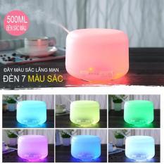 Máy tạo độ ẩm phun sương dung tích 500ml, máy khuếch tán tinh dầu đèn 7 màu màu sắc dịu nhẹ có thể làm đèn ngủ, thanh lọc không khí, lọc khuẩn may tao am