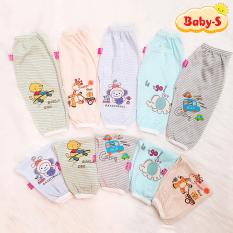 [HCM]Quần chục dài cotton kẻ cho bé trai và bé gái 2-10kg chất vải đẹp mềm mịn hình thú đủ màu sắc bé mặc mát co giãn thoải mái Baby-S – SQVN002