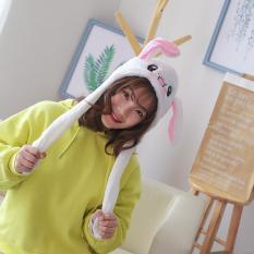 Mũ tai thỏ Nón tai thỏ giật cử động 2 tai dễ thương lông cực mềm tai bóp nhẹ rất nhạy(có sẵn)