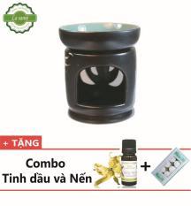 [COMBO – ƯU ĐÃI ĐẶC BIỆT ]- Đèn xông tinh dầu nến – 10ML TINH DẦU SẢ CHANH – NẾN