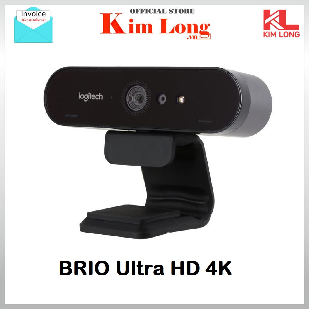 Webcam Logitech Brio Ultra Pro 4K với HDR, hỗ trợ Windows Hello – BH 36 Tháng Chính Hãng