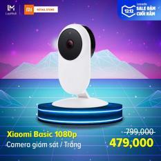 [HÀNG CHÍNH HÃNG – BẢO HÀNH 12 THÁNG] Camera giám sát Xiaomi Basic Full HD 1080 – Phạm vi hồng ngoại 10m – Ống kính góc quay rộng 130 độ – Hỗ trợ thẻ nhớ tối đa 64GB
