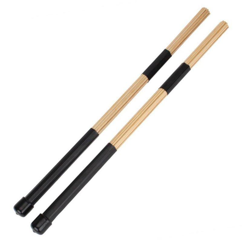 1 Pair 15.7\ 40cm Jazz Drum Brushes Drum Sticks Bamboo Black - intl