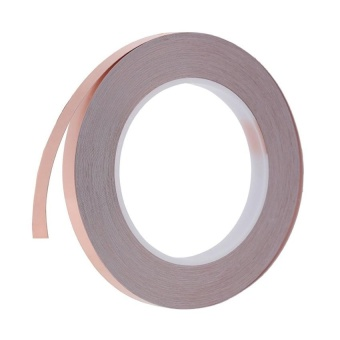 12Mm X 30M One Side Copper Foil Tape Emi Shielding Singleconductive Adhesive For Guitar - intl