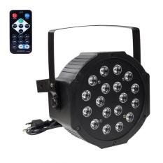 18 LED Flat Par Lights RGB Lamp for Club DJ Party Stage DMX512 Control EU – intl