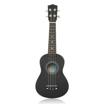 21 Inch 12 Fret Black Acoustic Maple Wood Ukulele Musicalinstrument 54X17x5.5Cm Ukulele Four-String Small Guitar - intl