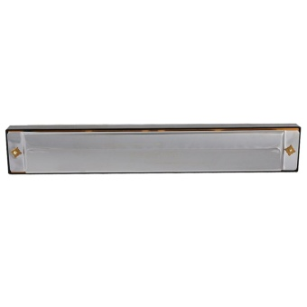 24 Hole Tremolo Harmonica C Key Octave-tuned Mouth Organ with Case- intl