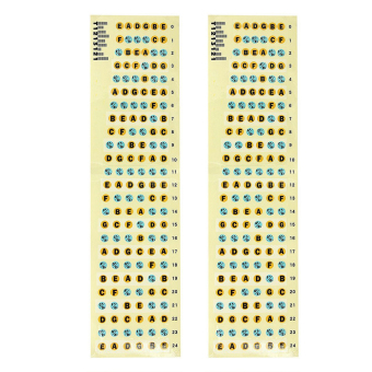 2Pcs Guitar Fretboard Labels Fret Sticker For Electric Guitar Bass- Intl