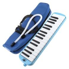 32 phím Xanh Dương Kèn Harmonica Kèn Melodica Giảng Dạy kèm Dụng Cụ Cao Cấp Xách dành cho Người Mới Bắt Đầu-quốc tế