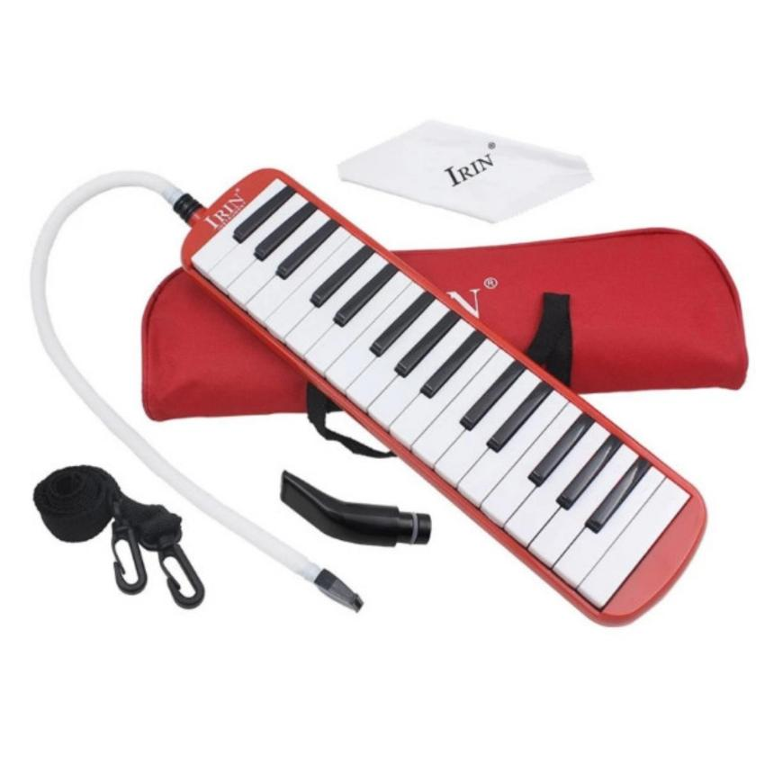 32 Piano Keys Melodica Musical Education Instrument for Beginner Kids Children Gift with Carrying Bag Red - intl