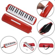 32 Piano Keys Melodica Musical Education Instrument for Beginner Kids Children Gift with Carrying Bag Red – intl