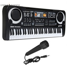 61 Keys Digital Electronic Music Piano Keyboard with Microphone Educational Toy Kids Gift - intl