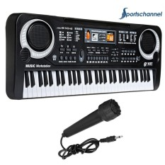 Giá Sốc 61 Keys Electronic Piano Keyboard with Microphone Educational Toy Kids Gift – intl