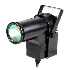 9W full Color Pin RGB DJ Effect Light Stage Lighting(Black)(US plug) – intl